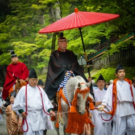One of the grand poo-bah's at the Nikko Grand Procession.